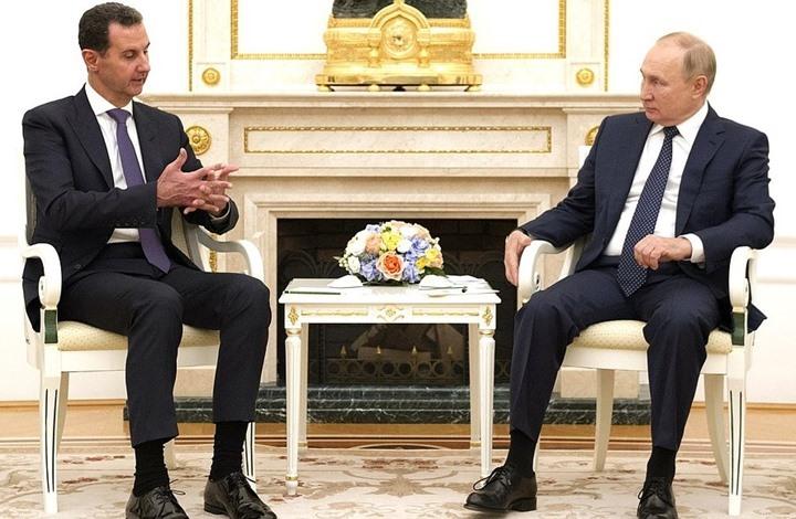 بوتين للأسد خلال لقاء